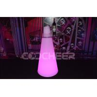Buy cheap Illuminating Bar Cocktail Table With Glass , Diverse Colors from Wholesalers