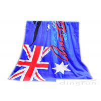 30*60 Velour Custom Printed Beach Towels With Australian Flag