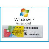 Buy cheap English Language Windows 7 Pro OEM Key Professional Full Package With DVD OEM BOX from Wholesalers