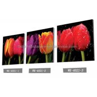 Buy cheap Decoration Flower Pictures Custom Lenticular Printing Frameless PET Printing from Wholesalers