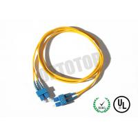 Buy cheap SC Connector Optical Patch Cord 2F ZIP 3.0mm OFNR CORNING SMF-28 ULTRA , Yellow Jacket from Wholesalers