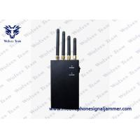 Buy cheap 4 Band 4W Portable GPS Jammer , Handheld  Black Cell Phone Signal Jammer from wholesalers