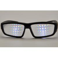 Buy cheap Promotional Plastic Diffraction Grating Film Glasses With Black Frame from Wholesalers
