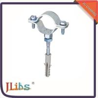 Buy cheap Cast Iron Pipe Clamps , Wall Mount Pipe Bracket With Nut Tapping Screw Nylon Plug from Wholesalers