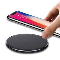 Buy cheap 2018 IBD New Round Shape 9v output 10W Fast Charge universal QI Mobile Phone Wireless Charger for Samsung S8 from Wholesalers