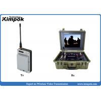 Buy cheap 20km Mini UAV Video Link Ultra Low Delay COFDM Wireless Video Transmitter With Battery from wholesalers