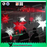 China 1m Customized Red Star White Inflatable Star For Event With LED Lighting on sale