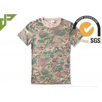 Quality CP Camouflage Tactical T Shirts Military Style For Outdoor Combating wholesale