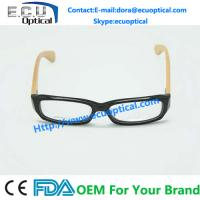 China 2014 New Acetate optical eyeglass frames wood eyeglasses on sale