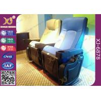 PU Leatherette Cover Polyurethane Foam Theatre Chairs With Plastic Drink Holder