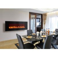 China electric fireplace heater long linear contemporary Modern Flames wall mounted big size real coal log fuel decor home on sale