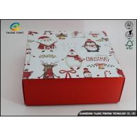 Buy cheap Customized Chrismas Luxury Christmas Packaging Paper Gift Box Recycled Materials from Wholesalers