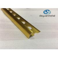 Quality Hole Punched Shiny Golden Aluminium Trim Round Floor strip Profile wholesale
