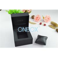 Buy cheap Single Men'S Watch Display Luxury Watch Box Fine Black Touch Paper With Soft Pillow from wholesalers
