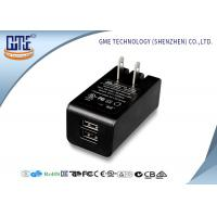 Dual Port 5v 2a Wall Mount Charger Ac Dc Switching Adapter Black Color