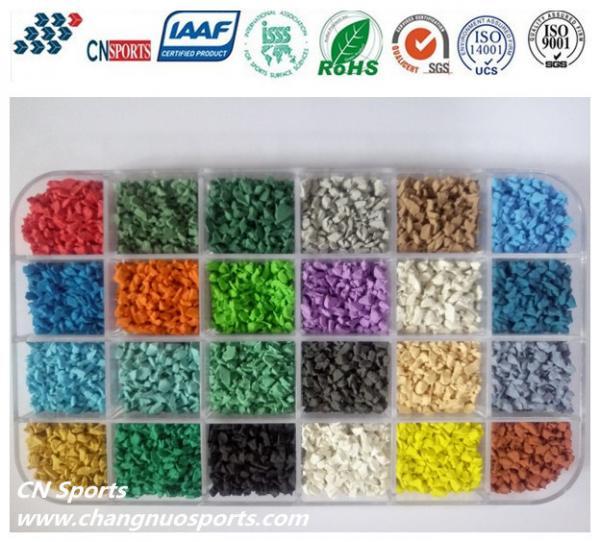 Quality Various Bright Colours UV Resistant  EPDM Rubber Granules for sale