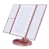 Buy cheap Tri Fold LED Makeup Mirror desktop Vanity Mirror USB for Power Cosmetic Mirror from Wholesalers