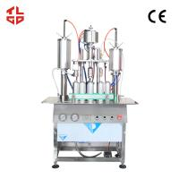 Quality Aerosol Can Body Spray Filling Machine , 3 In 1 Aerosol Filling And Crimping Machine wholesale
