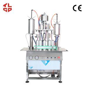 Quality Aerosol Can Body Spray Filling Machine , 3 In 1 Aerosol Filling And Crimping Machine wholesale