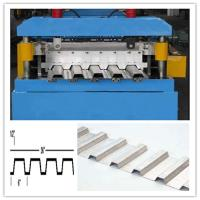 Buy cheap PLC with touch screen control system deck floor roll forming machine 28 roller stations from Wholesalers