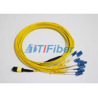 Buy cheap LC SM MTP / MPO Fiber Patch Leads With UPC Optical Fiber Connector from wholesalers