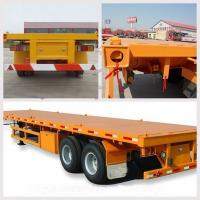 Buy cheap 20ft Fuwa axle flatbed chassis trailer with container twist lock 2 axles 40ft container transport semi trailer for sale from wholesalers