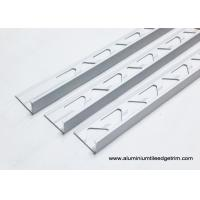 Buy cheap 10mm 3/8 In. Depth L Angle Aluminium Tile Edge Trim With Matt Silver from wholesalers