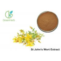 Buy cheap Brown Yellow Powder HPLC UV 3% Hypericin St John's Wort Extract powder from Wholesalers