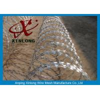 Buy cheap Eco-Friendly Razor Barbed Wire Prison Fence 0.5mm Thickness from wholesalers
