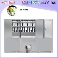 Buy cheap Commercial Ice Maker / Ice Cube Making Machine With PLC Central Program Control from Wholesalers