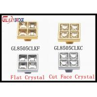 Buy cheap Durable Square Crystal Drawer Handles And Knobs 96mm / 128mm / 160mm Size from Wholesalers