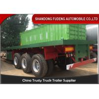 Buy cheap 3 Axles 40ft Container Flatbed Trailer With 12 Twist Locks , Flat Bed Semi Trailer from Wholesalers