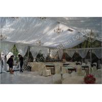 Quality Backyard Transparent Outdoor Party Tents , Clear Party Tent Rentals With Lining Decorations wholesale