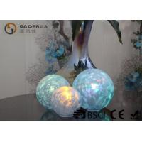 Buy cheap Set Of 3 Glass Ball Lights Surface With Ice Like Finish OEM / ODM Available from Wholesalers