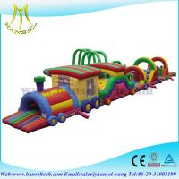 China Hansel inflatable bouncer obstacle course playground for kids on sale