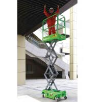 Buy cheap Platform Height Max 3m MINI Manual Pushing Mobile Scissor Lift with Loading Capacity of 240kg from wholesalers