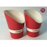 Quality 9oz Height 120mm French Fries Cup , Double PE Coated Hot Chip Cup wholesale