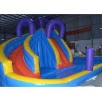 Buy cheap Blue And Yellow Inflatable Water Slide With Pool For Commercial Use from wholesalers