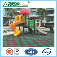 Buy cheap Kindergarten / Park Rubber Mats Playground 50×50×3 cm Recycled Rubberized Flooring from Wholesalers