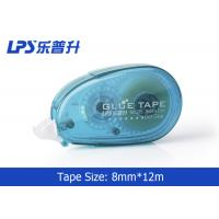 Quality Plastic PET Office Sticky Roller / Two Sided Glue Tape with Easy Touch Cap wholesale