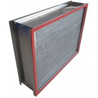 Buy cheap H13 SUS Frame Deep Pleated High Temp Hepa Filter 0.3um Particulate from wholesalers