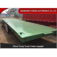 Buy cheap 40ft 20ft 3 Axles Flatbed Container Trailer , Container Semi Trailer 60-70Tons from wholesalers