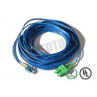 Buy cheap Dark Blue Jacket , LC - SC Connector Fiber Patch Cord , SM OS2 BI , 2 Fiber Zip 2mm OFNR from Wholesalers