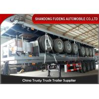 Buy cheap 40 Foot High Bed Semi Trailer With 4 Axles For Carry Container , Cement Bags With Warranty from Wholesalers