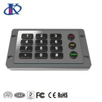 Buy cheap Excellent Tactile Feel Backlit Metal Keypad , Weatherproof Keypad Customizable Key Layout from wholesalers