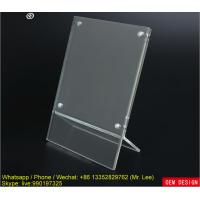 Buy cheap Mini Clear A Grade Acrylic Photo Frame / Picture Holder With Magnets from wholesalers