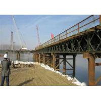 Buy cheap Rapid - Build GB450 Steel Frame Bridge , Deck Truss Bridge With Interchangeable Components from Wholesalers