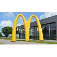 China new design advertising inflatable event arch display,custom letter M inflatable archway for promotion on sale