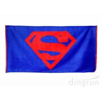 Buy cheap Plain Style 100 Cotton Beach Towels Long Lasting Cooling Feel Customized Color from Wholesalers