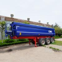China Hydraulic dump trailers 25m3 tipper trailer tri axle tipping trailer for sale on sale